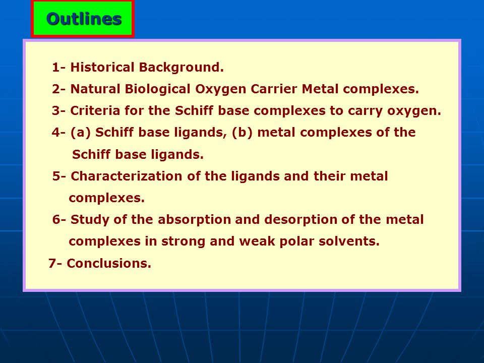 Outlines 1- Historical Background.
