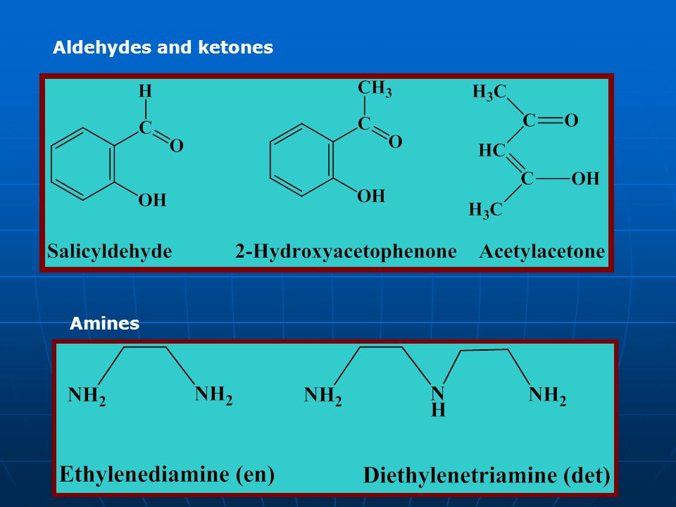 Aldehydes and ketones Amines