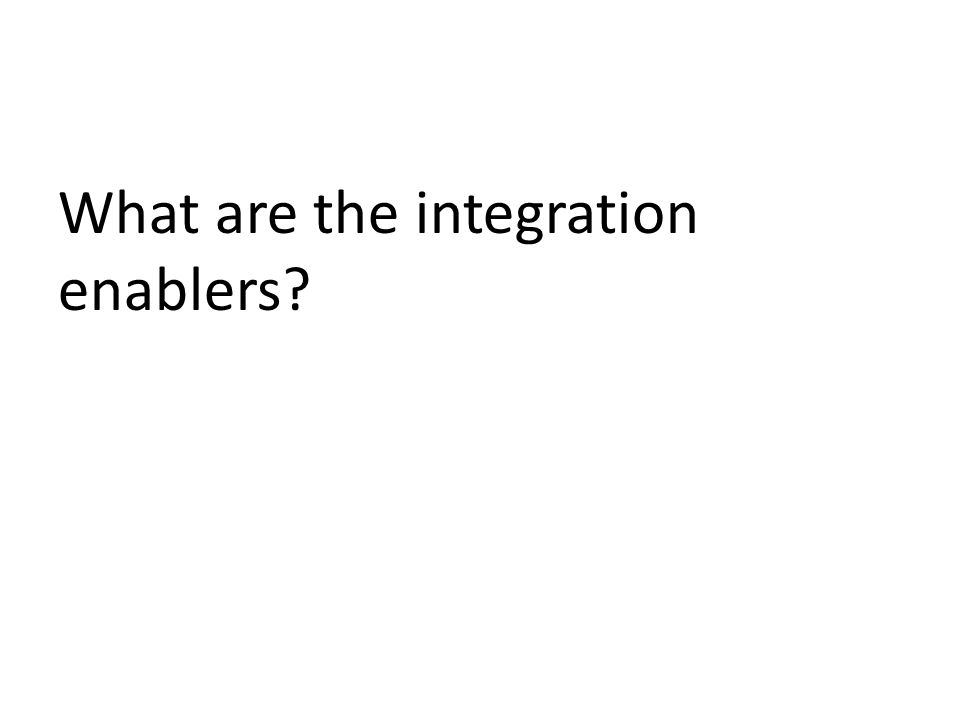 What are the integration enablers
