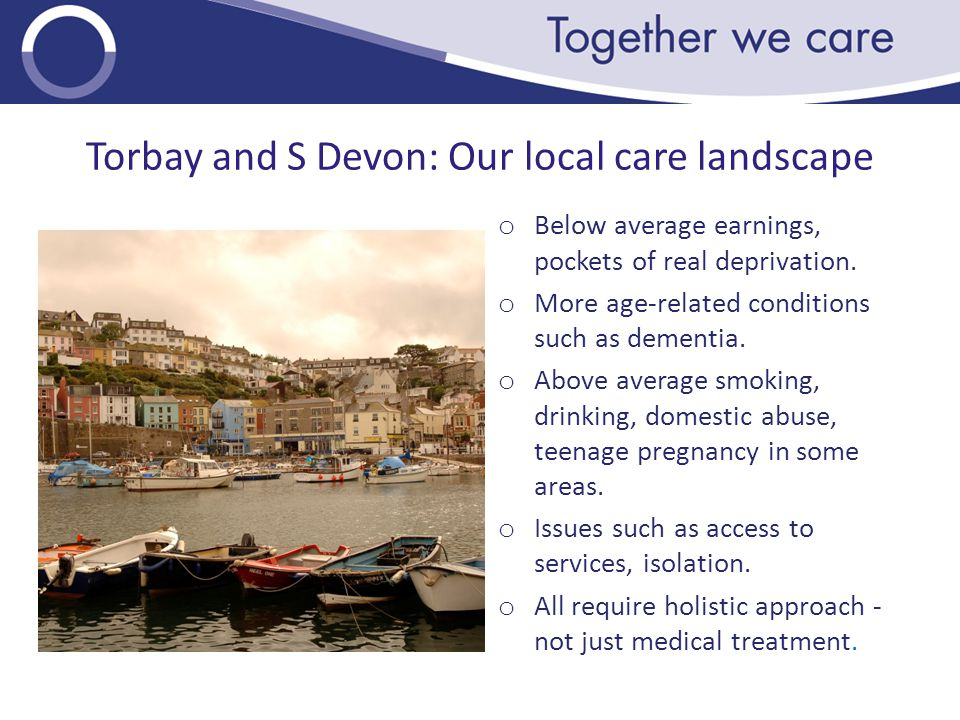 Torbay and S Devon: Our local care landscape