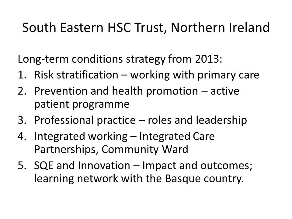 South Eastern HSC Trust, Northern Ireland