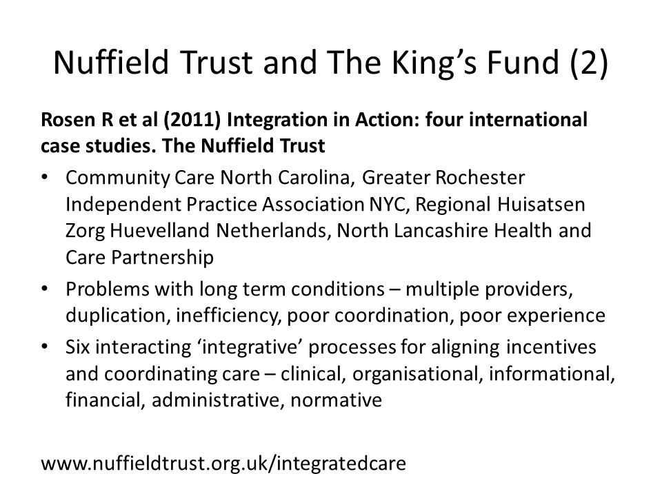 Nuffield Trust and The King's Fund (2)