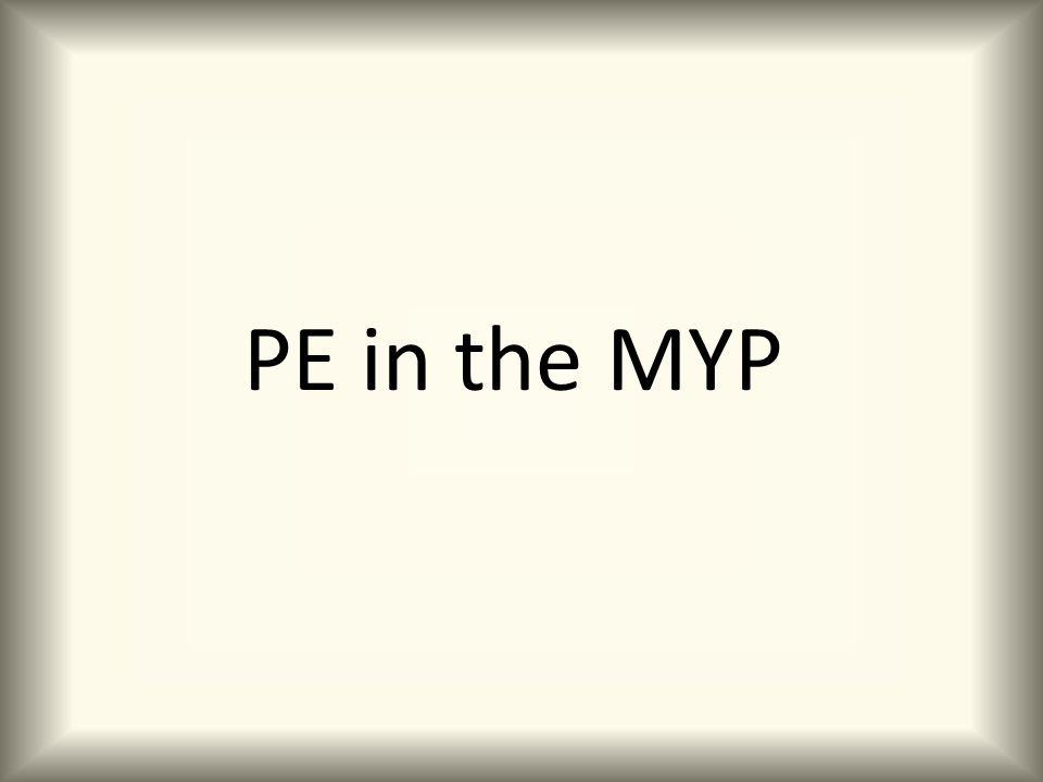 PE in the MYP