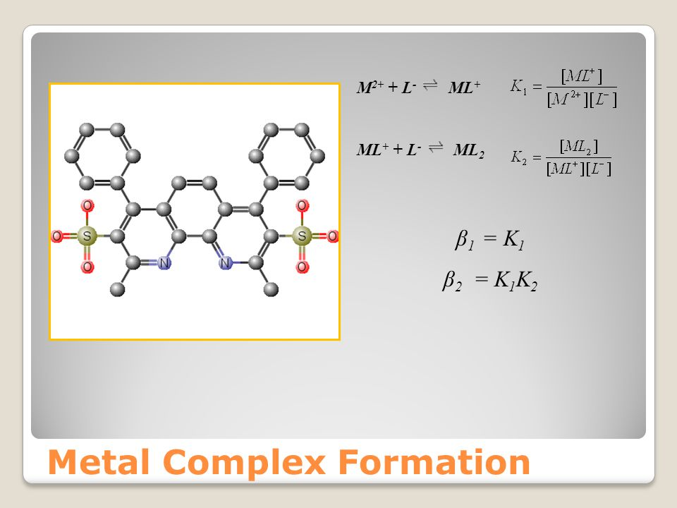 Metal Complex Formation