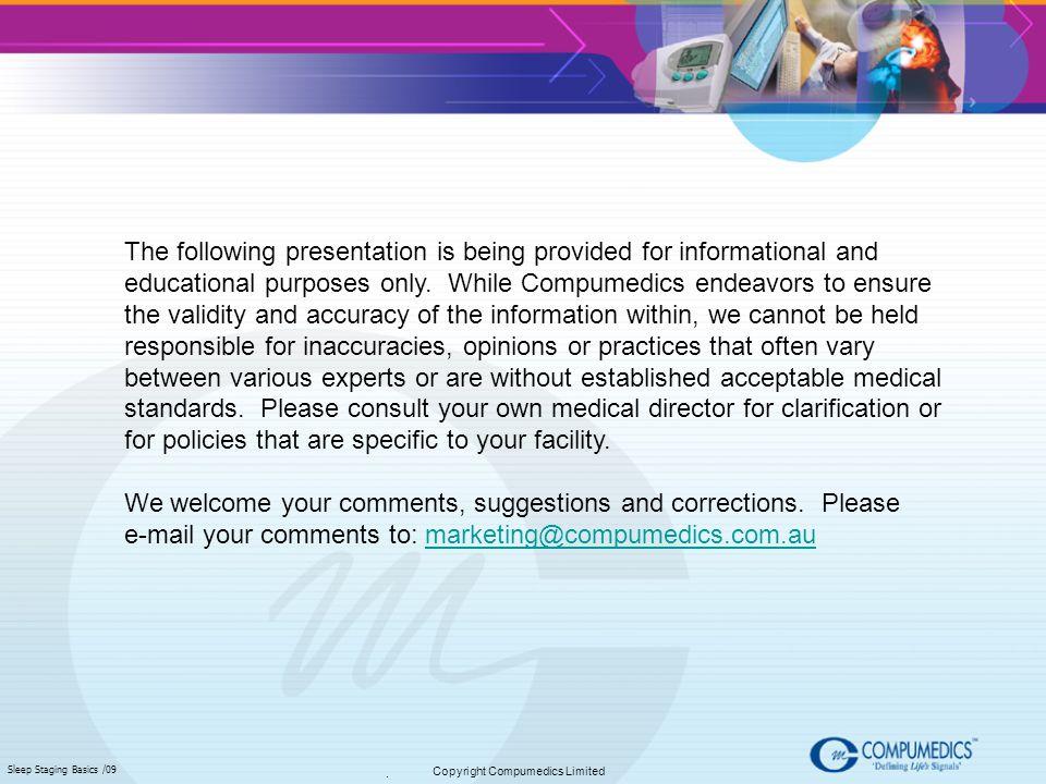 Copyright Compumedics Limited
