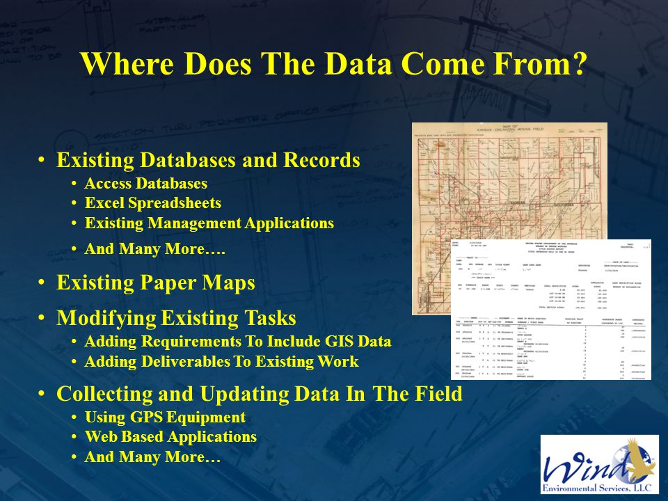 Where Does The Data Come From