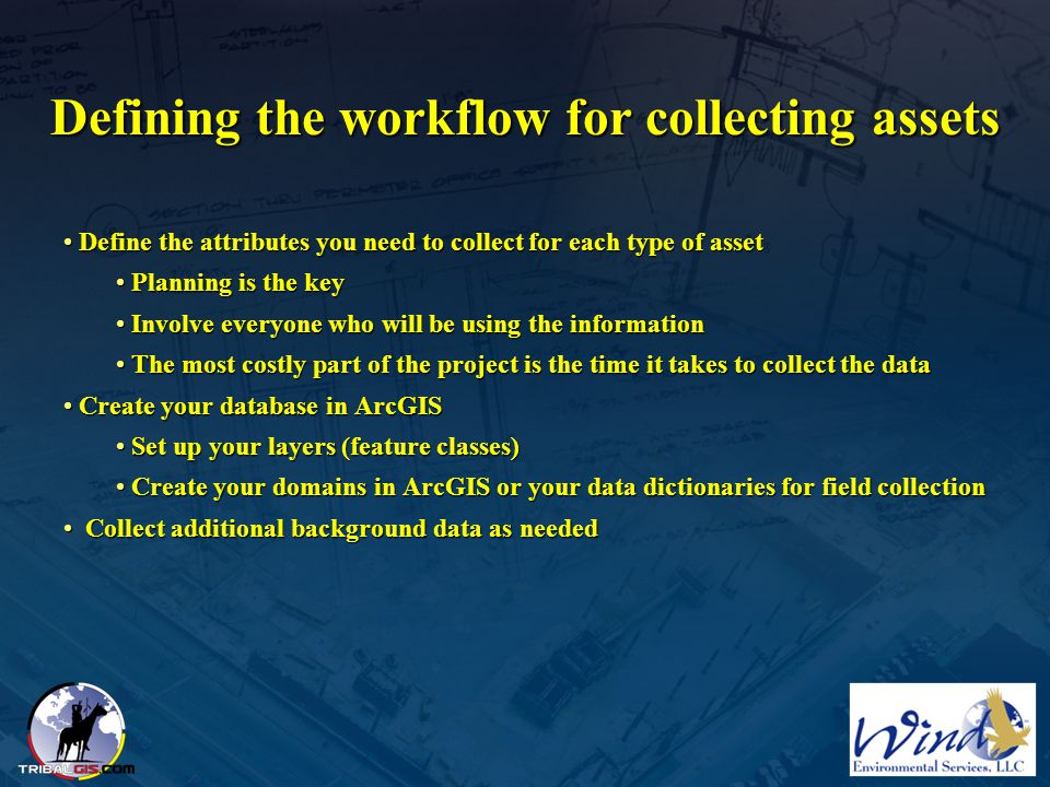 Defining the workflow for collecting assets