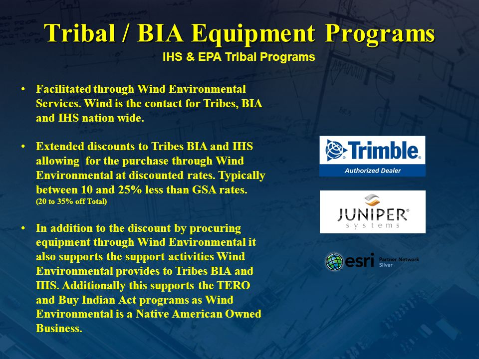 Tribal / BIA Equipment Programs