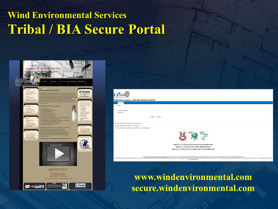Wind Environmental Services Tribal / BIA Secure Portal