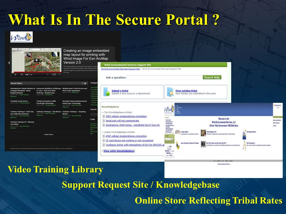 What Is In The Secure Portal