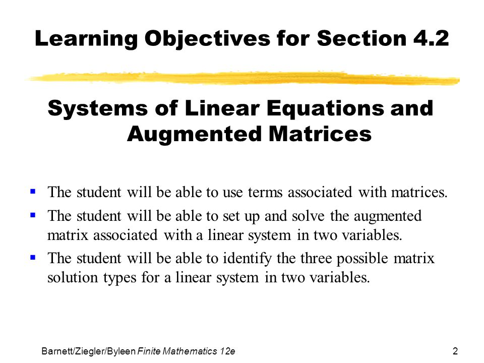 Learning Objectives for Section 4.2