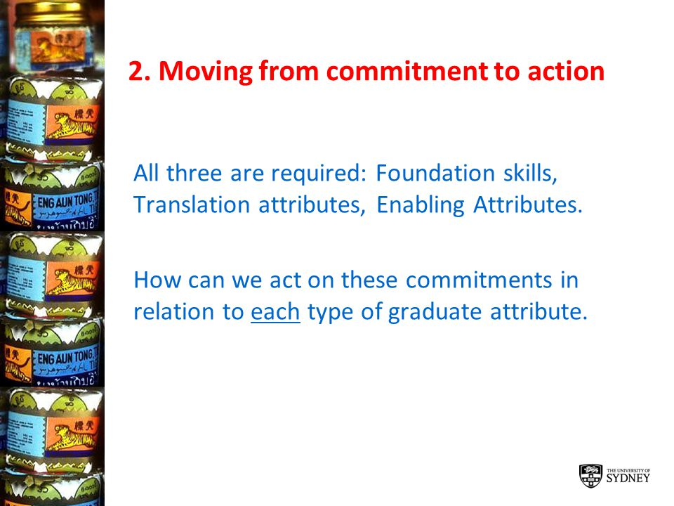 2. Moving from commitment to action