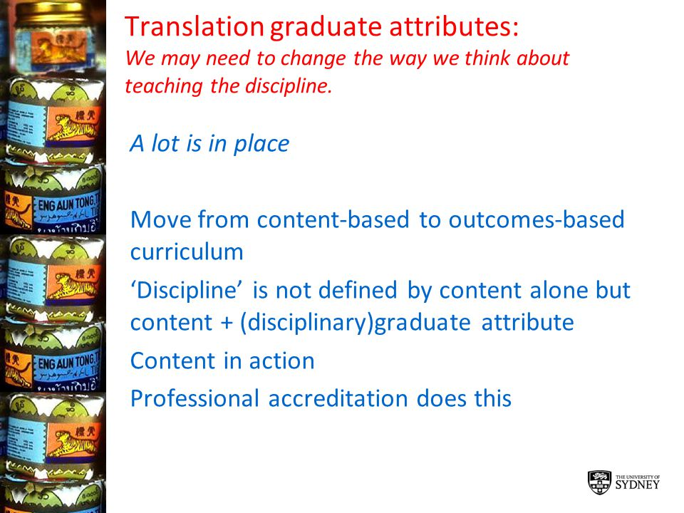 Translation graduate attributes: We may need to change the way we think about teaching the discipline.