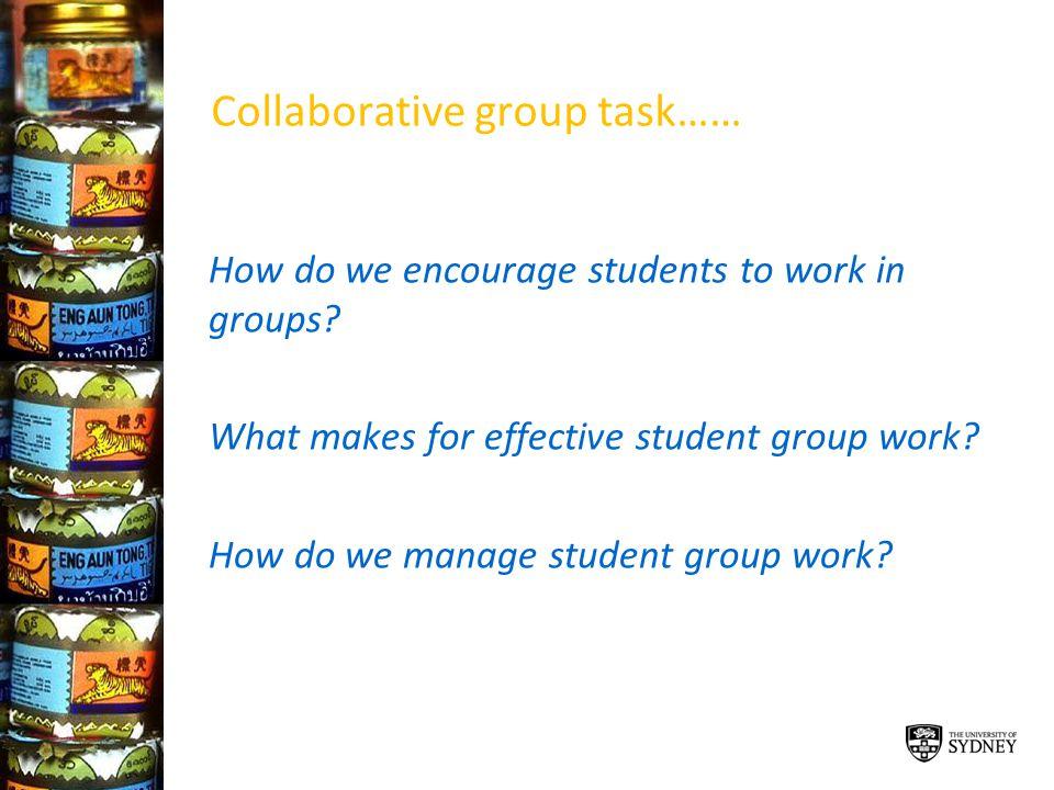 Collaborative group task……