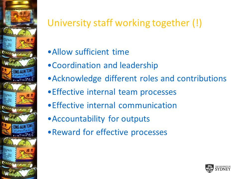 University staff working together (!)