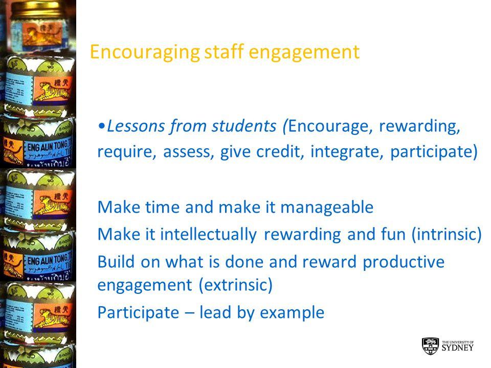 Encouraging staff engagement
