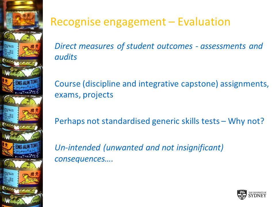 Recognise engagement – Evaluation