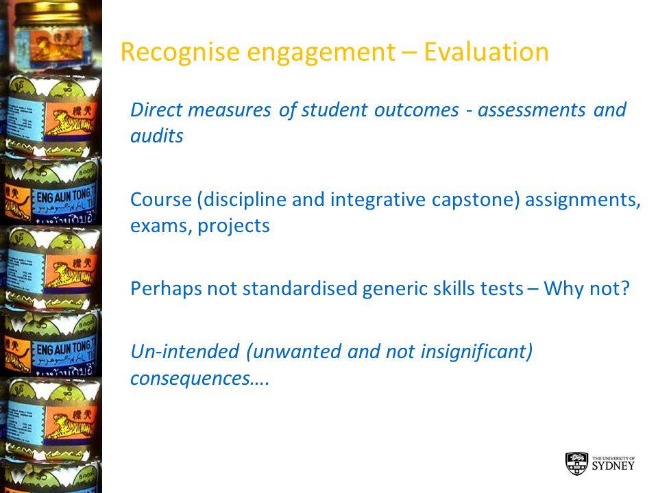 Recognise engagement – Evaluation