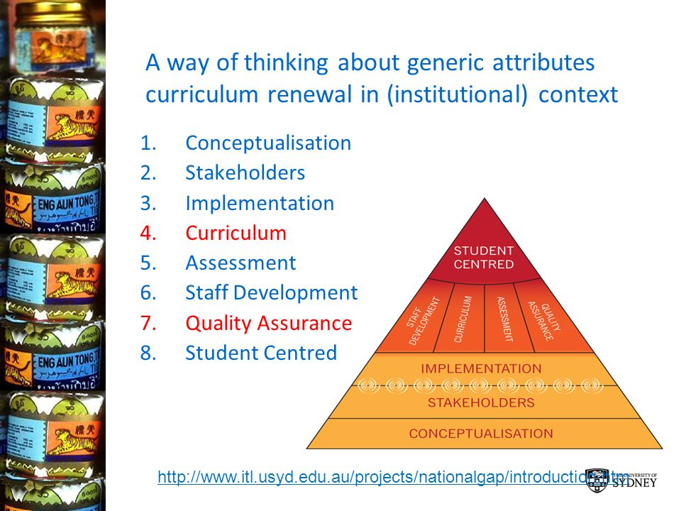A way of thinking about generic attributes curriculum renewal in (institutional) context