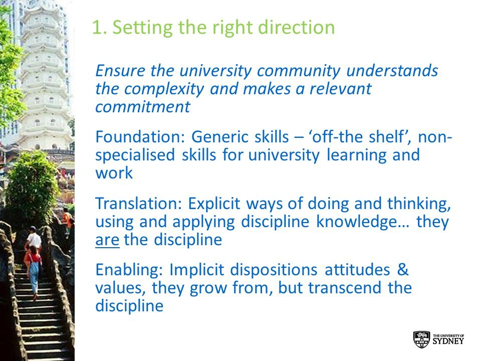 1. Setting the right direction