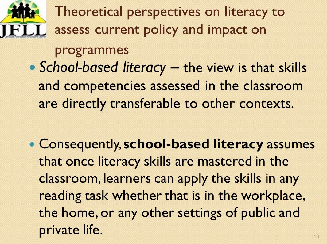 Theoretical perspectives on literacy to assess current policy and impact on programmes