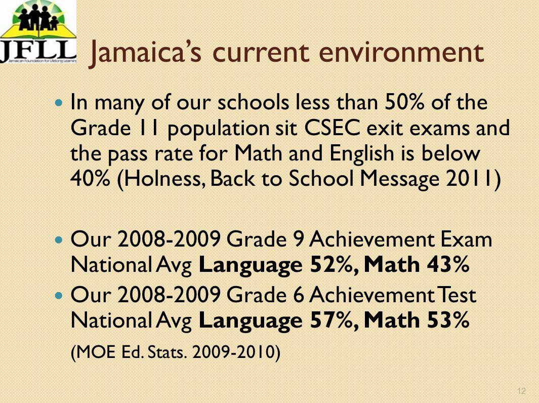 Jamaica's current environment