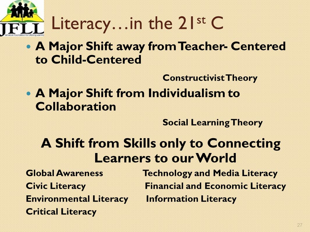 A Shift from Skills only to Connecting Learners to our World