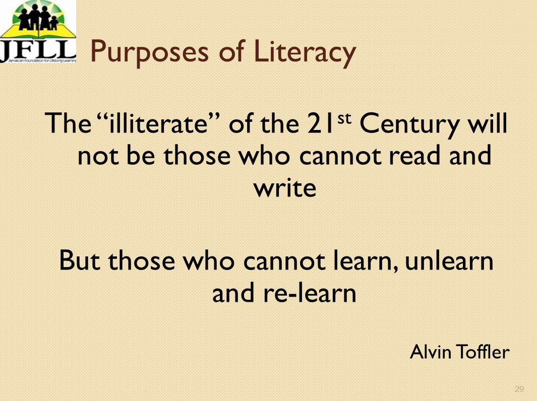But those who cannot learn, unlearn and re-learn