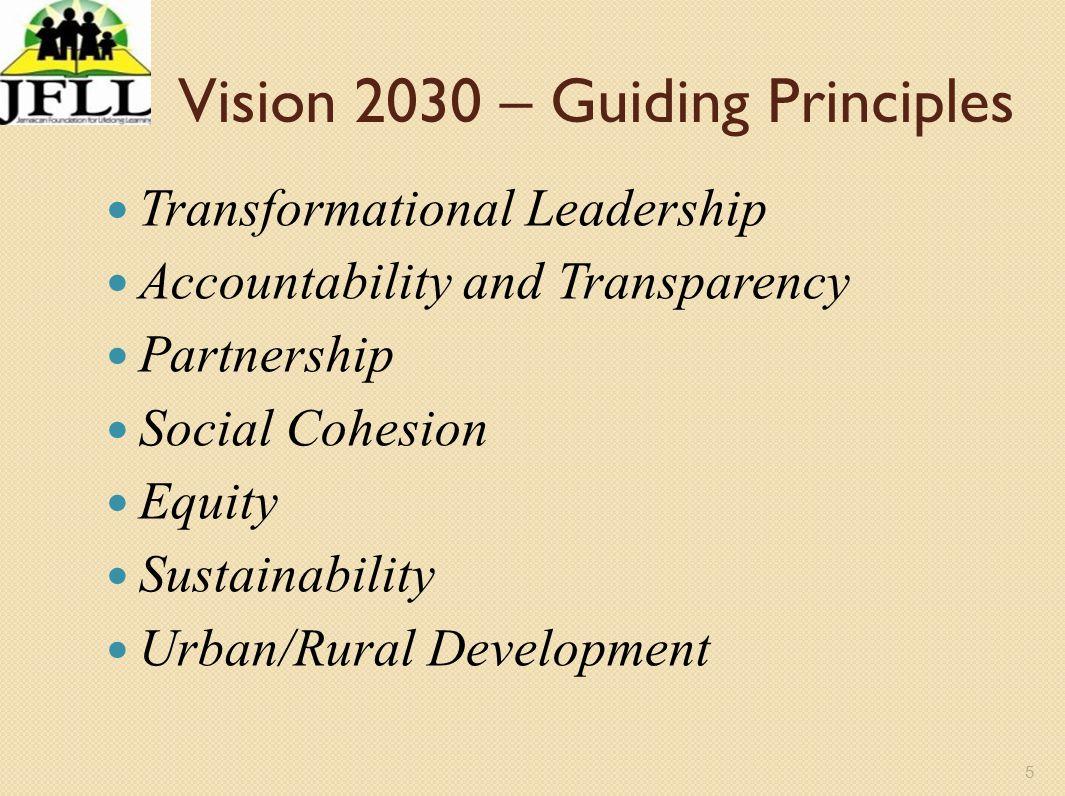 Vision 2030 – Guiding Principles
