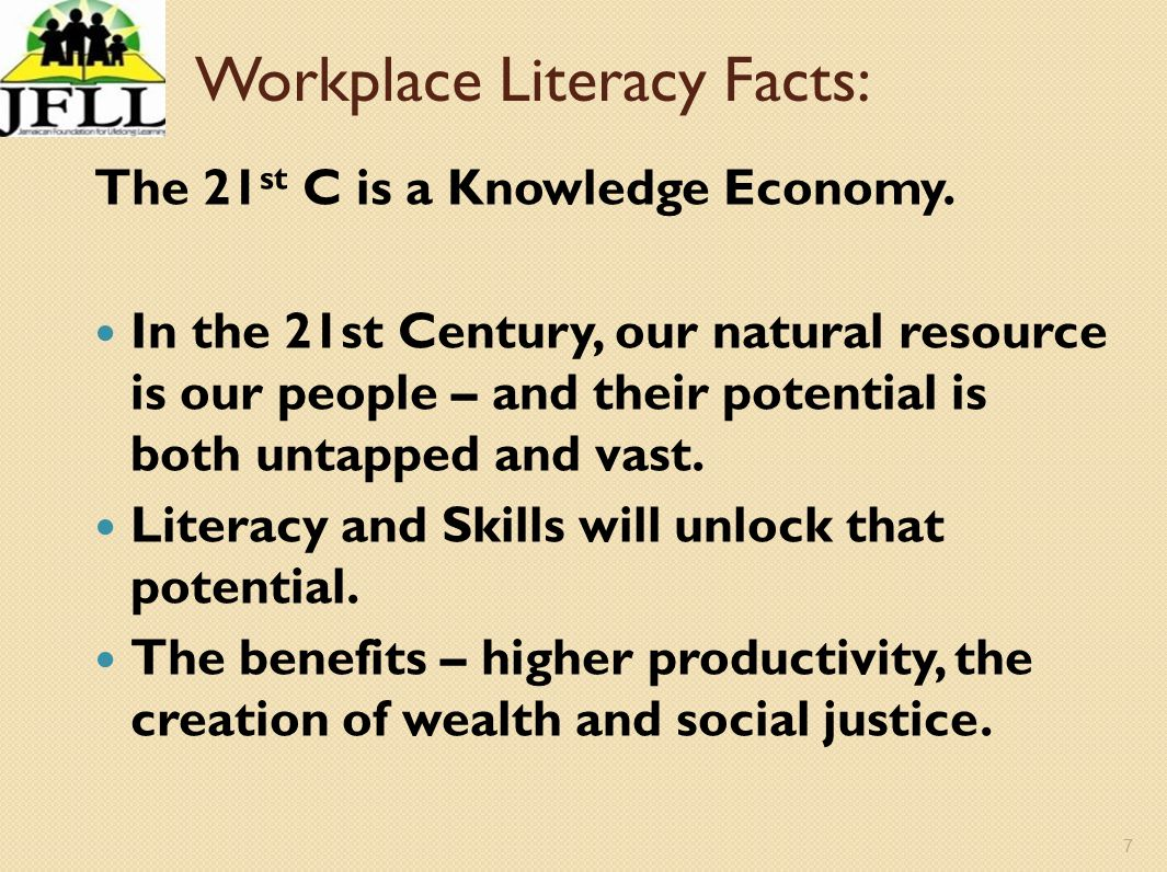 Workplace Literacy Facts: