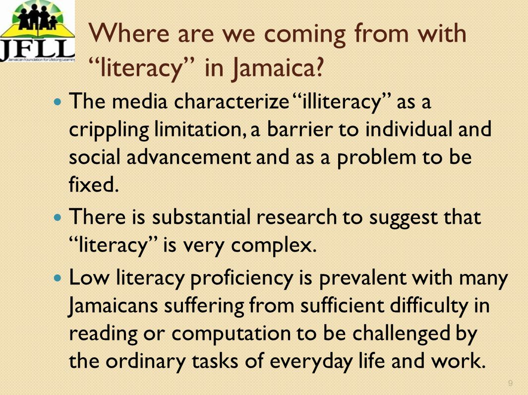 Where are we coming from with literacy in Jamaica
