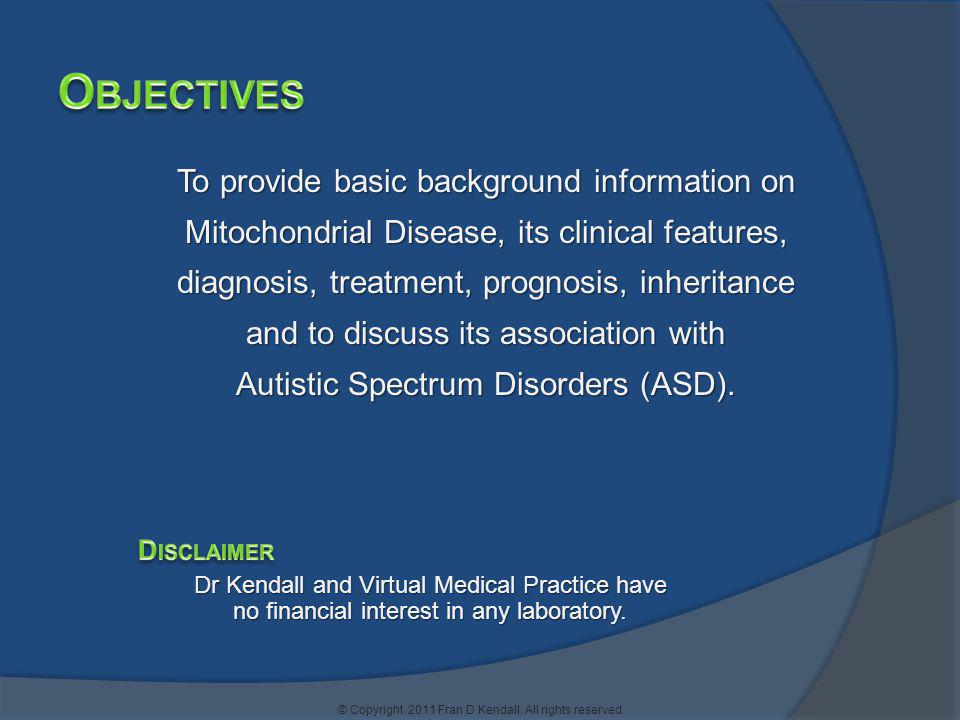 Objectives To provide basic background information on
