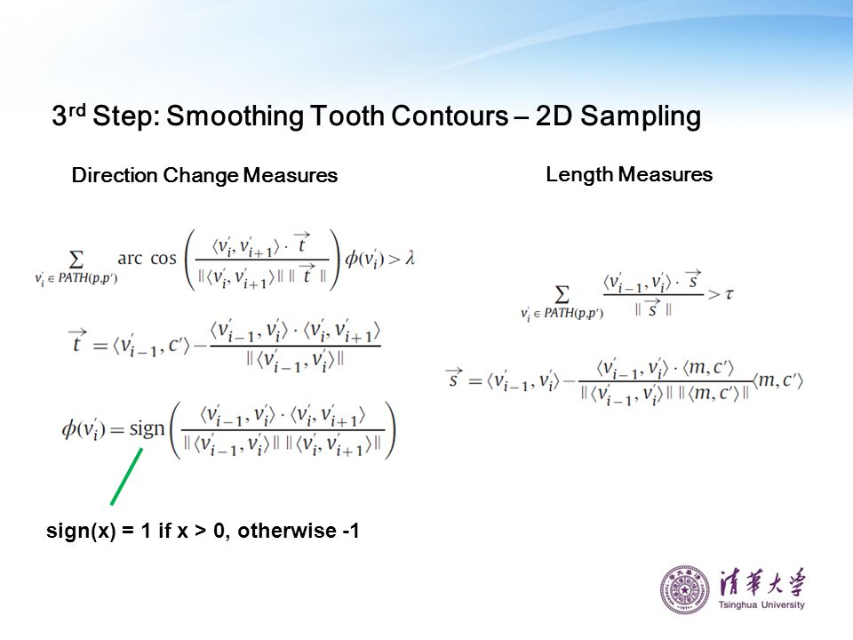3rd Step: Smoothing Tooth Contours – 2D Sampling