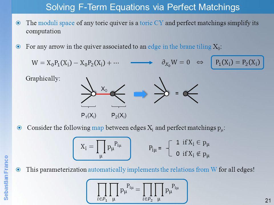 Solving F-Term Equations via Perfect Matchings