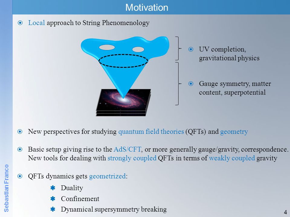 Motivation Local approach to String Phenomenology