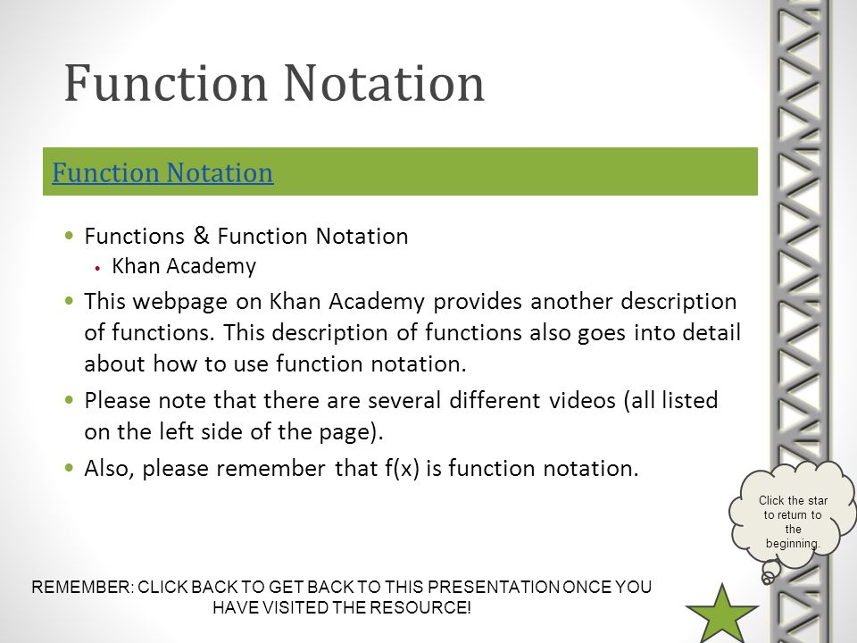 Function Notation Function Notation Functions & Function Notation