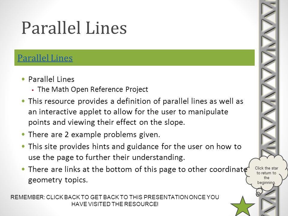 Parallel Lines Parallel Lines Parallel Lines