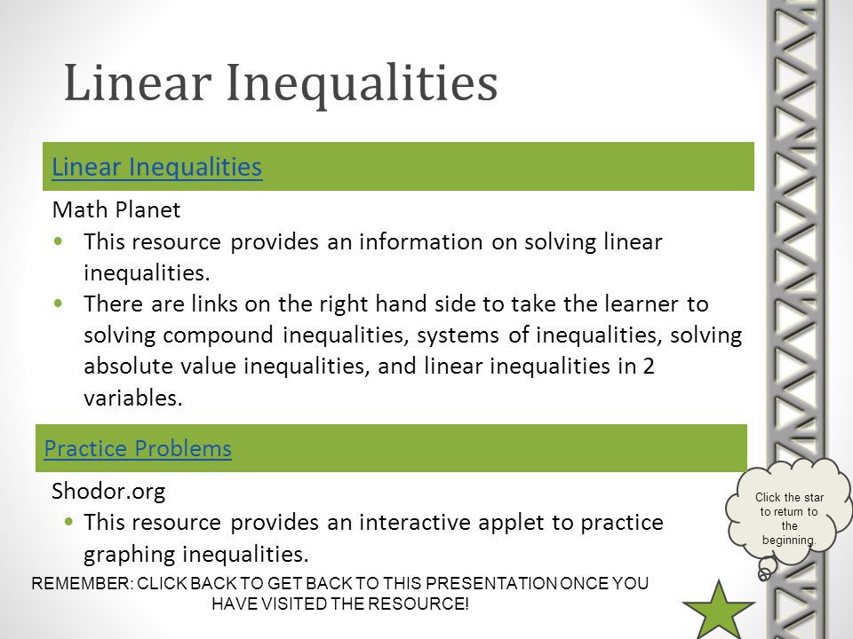 Linear Inequalities Practice Problems
