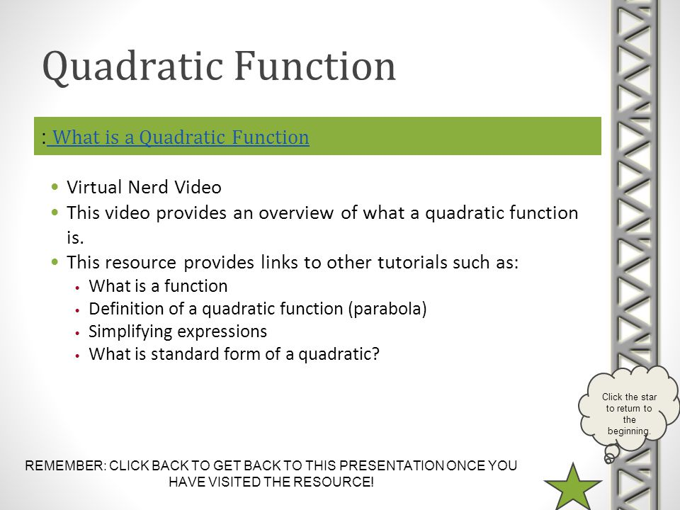 : What is a Quadratic Function