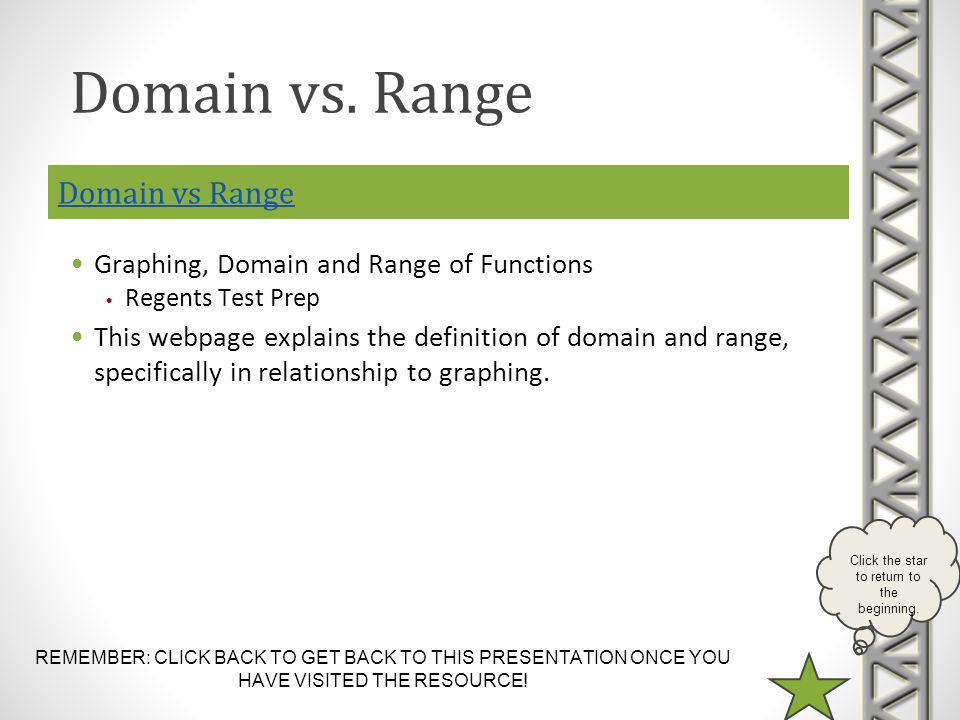 Domain vs. Range Domain vs Range