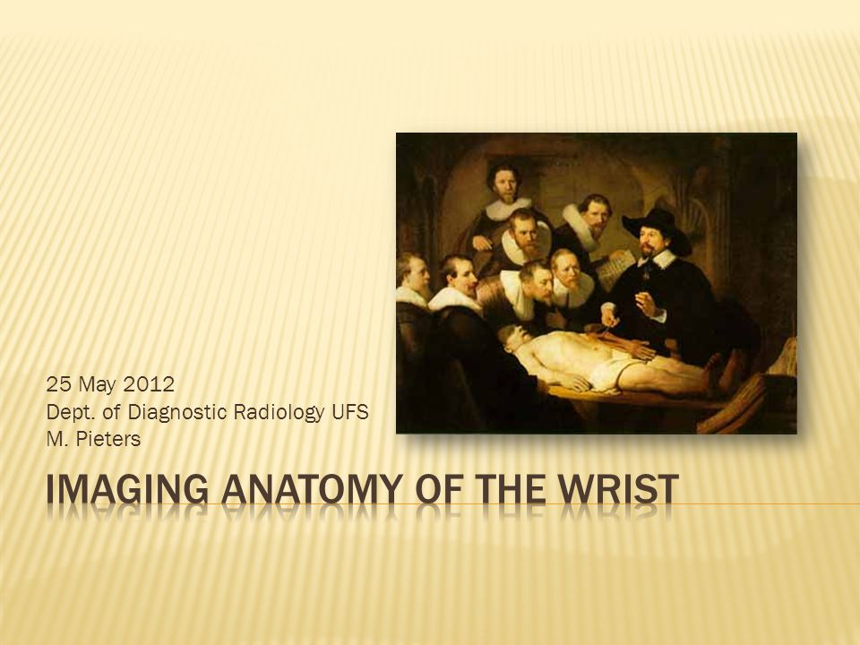 Imaging Anatomy Of The Wrist Ppt Video Online Download