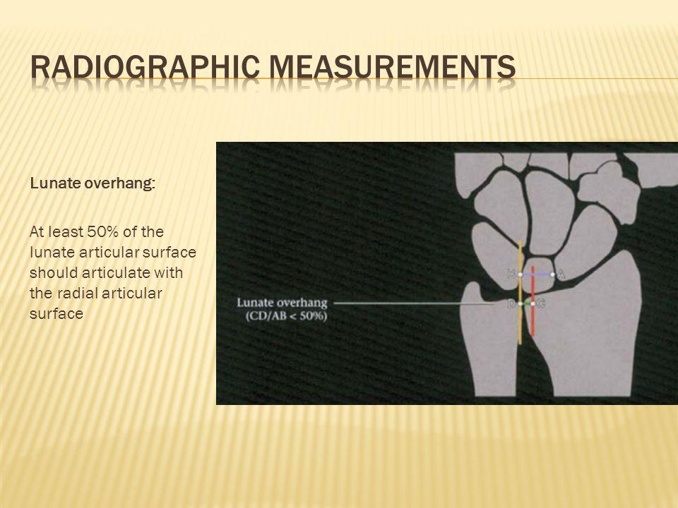 Radiographic measurements