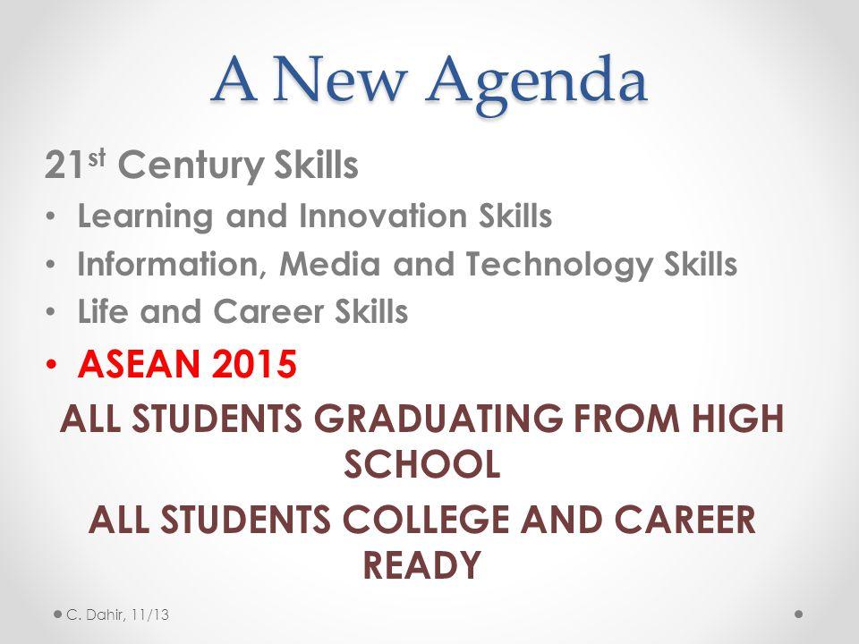 A New Agenda 21st Century Skills ASEAN 2015