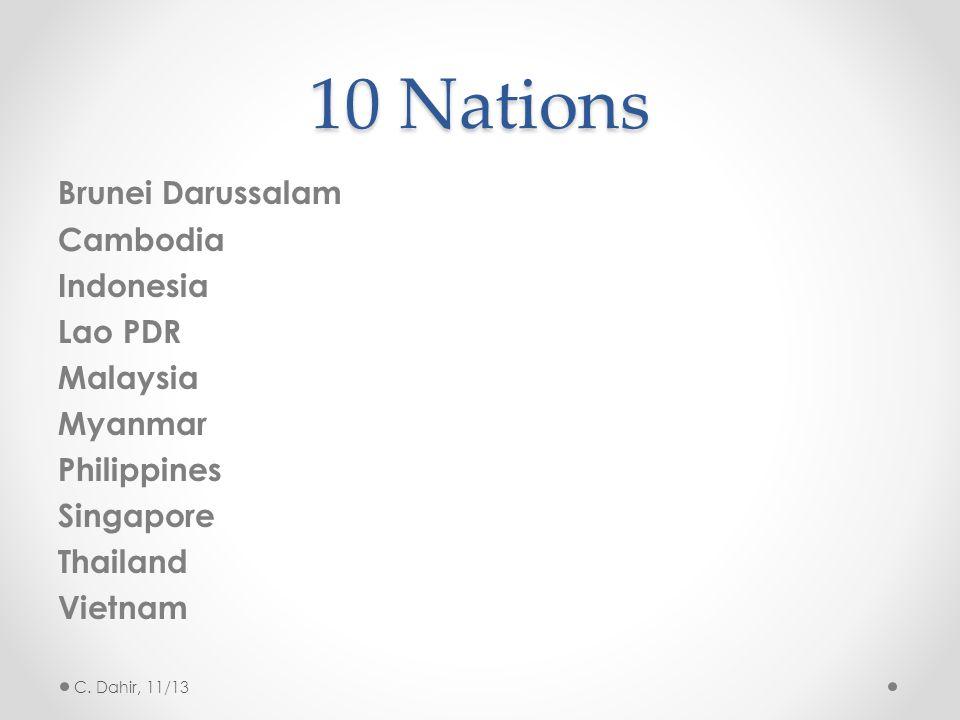 10 Nations Brunei Darussalam Cambodia Indonesia Lao PDR Malaysia Myanmar Philippines Singapore Thailand Vietnam