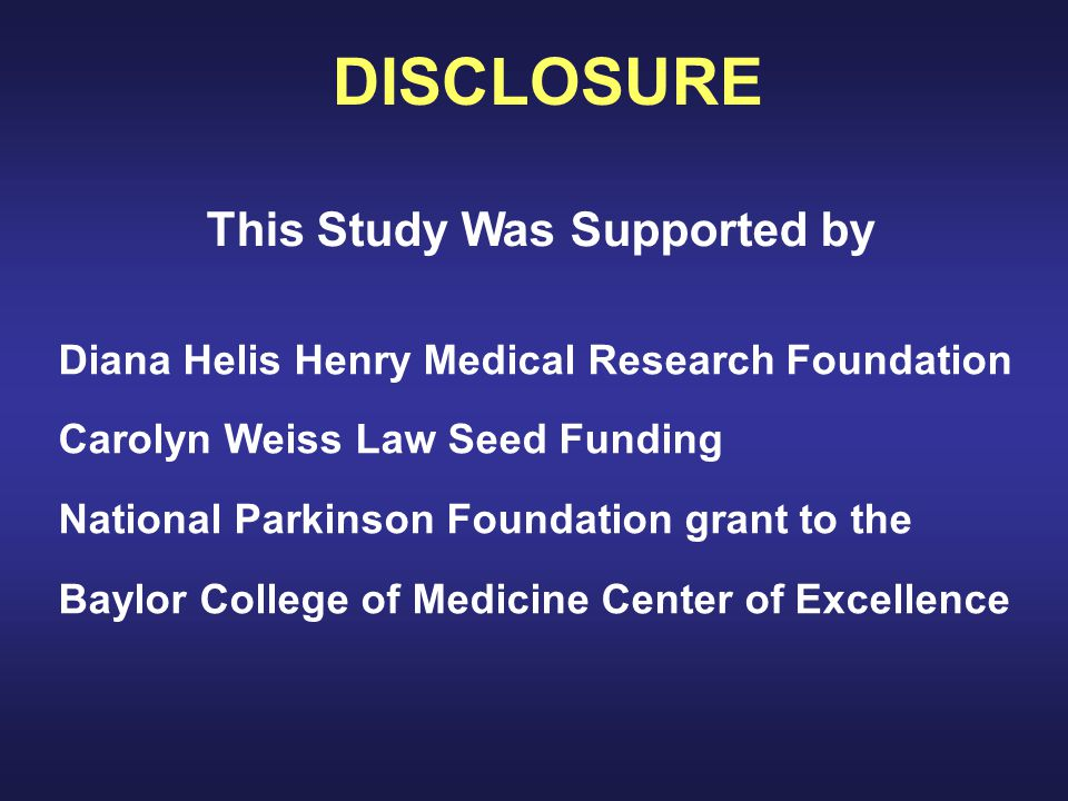 This Study Was Supported by