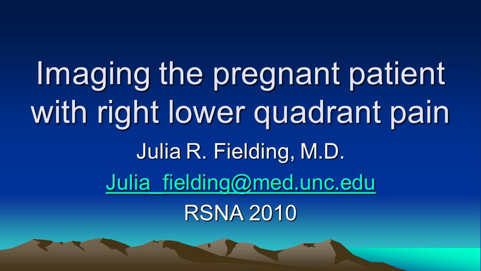 Imaging the pregnant patient with right lower quadrant pain