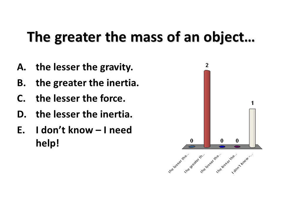 The greater the mass of an object…