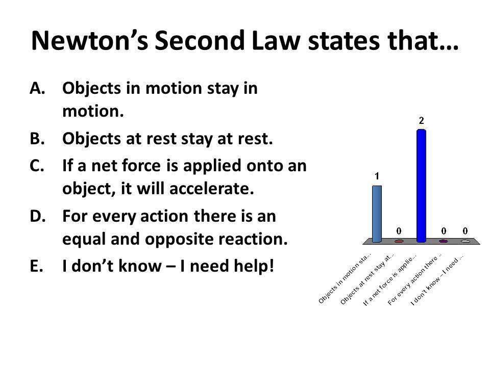 Newton's Second Law states that…