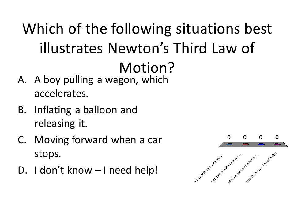 Which of the following situations best illustrates Newton's Third Law of Motion