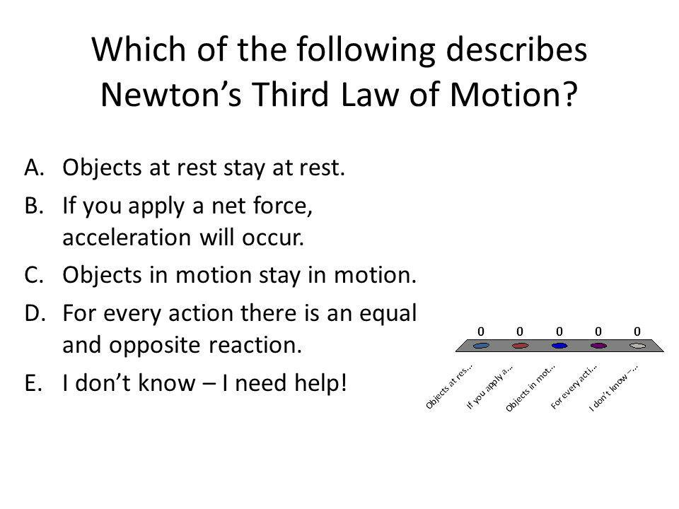 Which of the following describes Newton's Third Law of Motion
